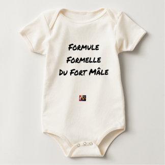 FORMELLE FORMEL des STARKEN MÄNNCHENS - Wortspiele Baby Strampler
