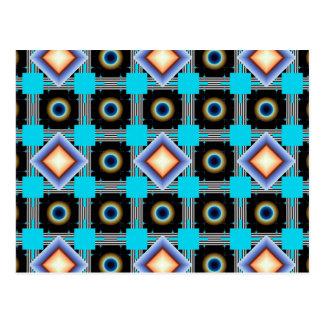 Formen gedreht postkarte
