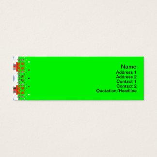 Formen umgewandelt gedreht mini visitenkarte