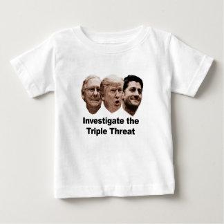 Forschen Sie die dreifache Drohung nach Baby T-shirt