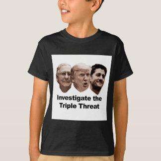 Forschen Sie die dreifache Drohung nach T-Shirt