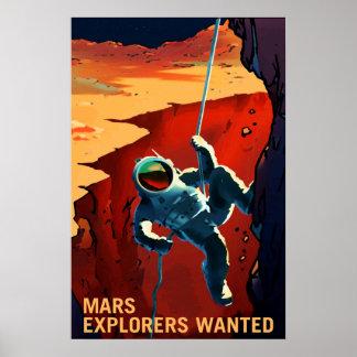 Forscher gewollt auf der Reise zu den Mars, Reise Poster