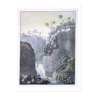 Forscher mit Humboldts Expedition im Basalt Postkarte