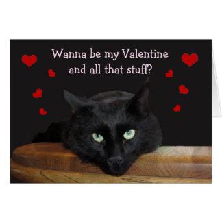 """Förster, """"wollen Sie, um mein Valentine-zu sein"""" Grußkarte"""