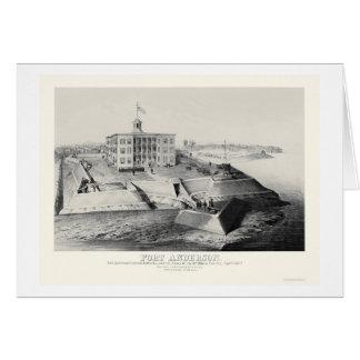 Fort Anderson in Paducah, KY 1862 Karte