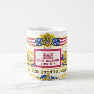 Fort Belvoir Virginia militärische Vintage Kaffeetasse