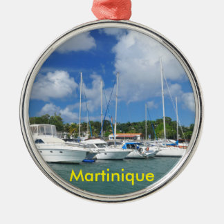Fort-de-France, Martinique Rundes Silberfarbenes Ornament