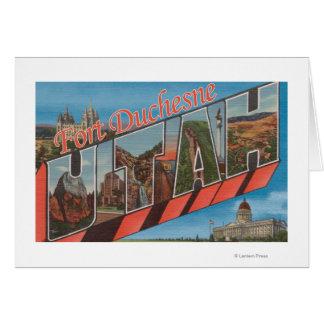 Fort Duchesen, Utah - große Buchstabe-Szenen Karte