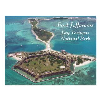 Fort Jefferson trockenes Tortugas Postkarte