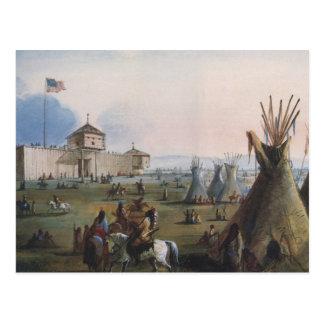 Fort Laramie, Sublette Fort, Fort William, Miller Postkarte