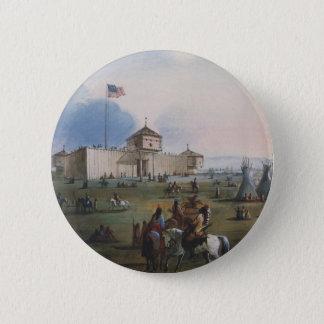 Fort Laramie, Sublette Fort, Fort William, Miller Runder Button 5,7 Cm