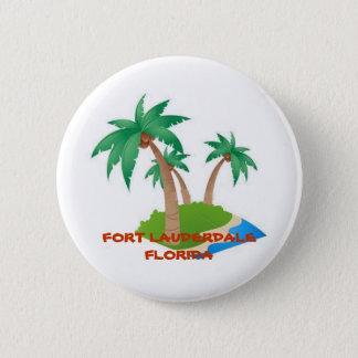 Fort Lauderdale Florida, tropischer Ferien-Knopf Runder Button 5,1 Cm