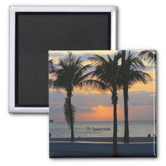 Fort Lauderdale-Sonnenaufgang Quadratischer Magnet