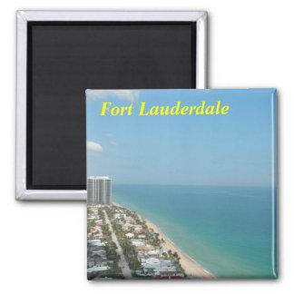 Fort Lauderdalemagnet Quadratischer Magnet