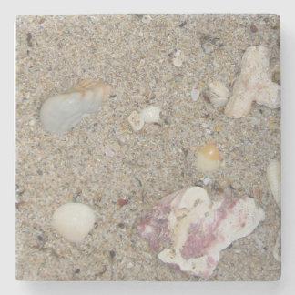 Fort- Lauderdalestrand-Sand, Muscheln Steinuntersetzer