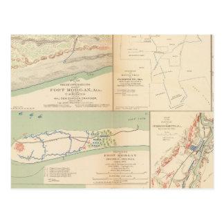 Fort Morgan, Ala Postkarte