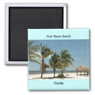 Fort- Myersstrand Florida Quadratischer Magnet