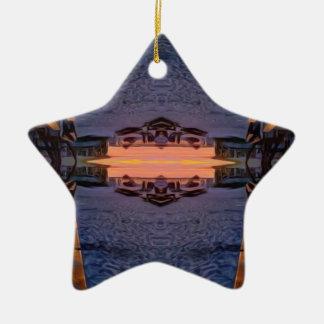 Fort- Myersstrand psychedelisch Keramik Ornament