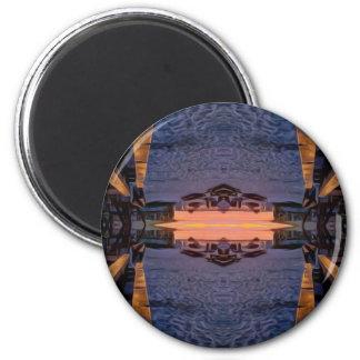 Fort- Myersstrand psychedelisch Runder Magnet 5,7 Cm