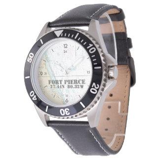 Fort Pierce, FLseebreite-Länge Uhr