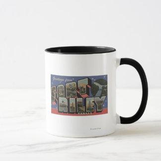 Fort Riley, Kansas - große Buchstabe-Szenen Tasse