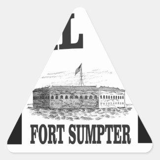 Fort Sumpterdoppelstern Dreieckiger Aufkleber