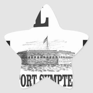 Fort Sumpterdoppelstern Stern-Aufkleber