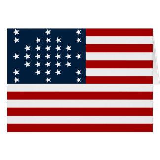 Fort Sumter des Stern-33 amerikanische zivile Krie Grußkarte