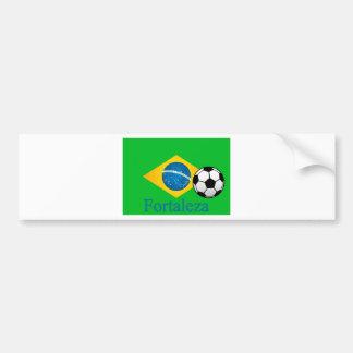 Fortaleza-Brasilianer-Flagge Autoaufkleber