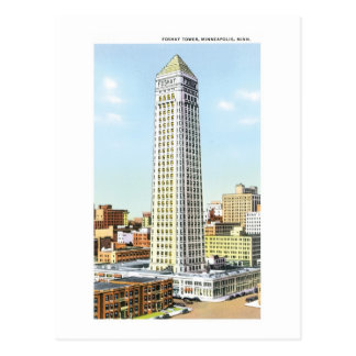 Foshay Turm, Minneapolis, Minnesota Postkarte