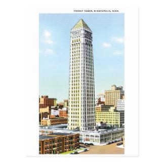 Foshay Turm, Minneapolis, Minnesota Postkarte