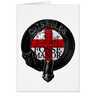 Fosse-Landsitz-Hotel cotswolds britisch Grußkarte