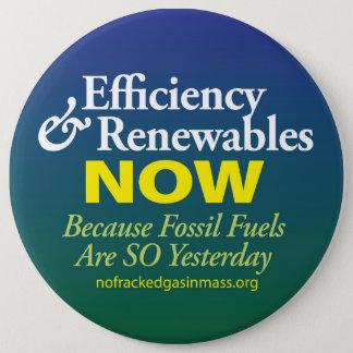Fossilienbrennstoffe sind so gestern Knopf Runder Button 15,3 Cm