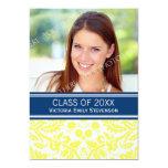 Foto-Abschluss-Party Einladungs-Gelb-Blau 12,7 X 17,8 Cm Einladungskarte