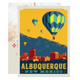 Foto Albuquerques, New-Mexiko | Save the Date - 14 X 19,5 Cm Einladungskarte