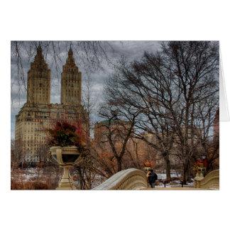 Foto an der Bogen-Brücke in Central Park, NYC Karte