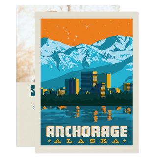 Foto Anchorages, Alaska | Save the Date - Karte