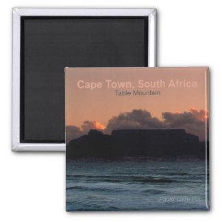 Foto-Andenken-Magneten Kapstadts Südafrika Quadratischer Magnet