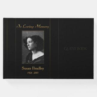 Foto-Begräbnis- Gast-Buch mit Goldrohrleitung Gäste Buch