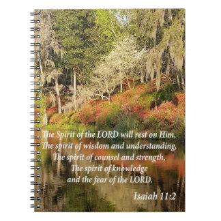 Foto-Buch: Jesaja-11:2 Spiral Notizblock