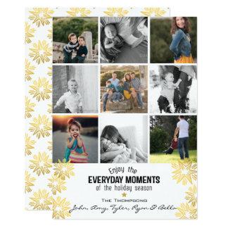 Foto-Collage der Feiertags-Stern-tägliche Moment-9 Karte