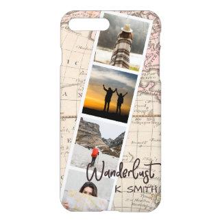 Foto-Collage der Reise-Erinnerungen. Wanderlust. iPhone 8 Plus/7 Plus Hülle