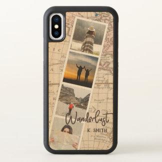Foto-Collage der Reise-Erinnerungen. Wanderlust. iPhone X Hülle