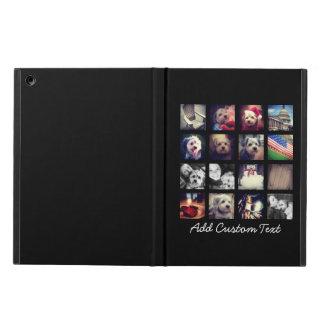 Foto-Collage mit schwarzem Hintergrund