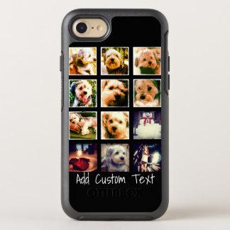 Foto-Collage mit schwarzem Hintergrund OtterBox Symmetry iPhone 8/7 Hülle