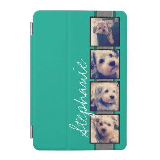 Foto-Collage mit Smaragdgrün-individuellem Namen iPad Mini Hülle