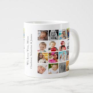 Foto-Collagen-personalisierte Gewohnheit machen Jumbo-Tasse