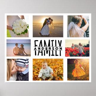 Foto-Collagen-Schablone der Familien-8 plus Poster