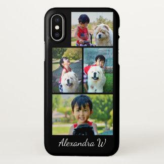Foto-Collagen-Schwarzes machen Ihre eigene iPhone X Hülle