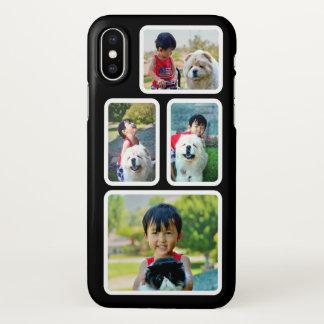Foto-Collagen-Schwarzweiss-Rahmen kundenspezifisch iPhone X Hülle